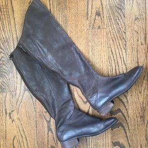 Dolce Vita Dark Brown Tall Leather Boots